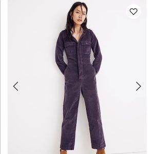 Madewell Velveteen Jumpsuit Size 0